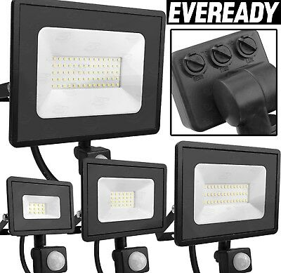 PIR LED Floodlight Outdoor Security Motion Sensor PIR Spotlight Cool White 4000k