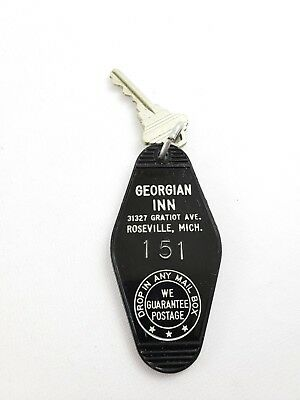 Vintage Hotel Motel Key Fob Georgian Inn Roseville Michigan Room 151
