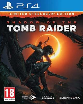 Shadow Of The Tomb Raider  Edition Limitée (Steelbook + Jeux )  PS4 NEUF