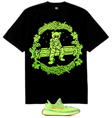 New Kanye west Dropout Bear shirt for Yeezy Boost 350 V2 Semi Frozen Yellow