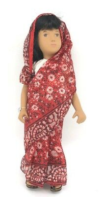 "Vintage 17"" Sasha Doll Red ""sari"" In Box Rare Last Few Made Before Factory Close"