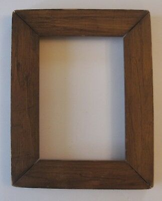 19Th Century Solid Maple Picture Frame Original Wavy Glass, Good For Silhouette