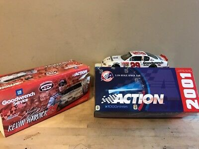 2001 Kevin Harvick #29 GM Goodwrench Rookie Of The Year Edition Action 1:24