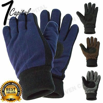 Mens Womens Winter Insulated Warm Thermal Gloves Insulation Knit Unisex Mitten
