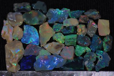 100 Cts Solid Gem Quality Lightning Ridge Rough And Rough Rubbed Opal Parcel 73