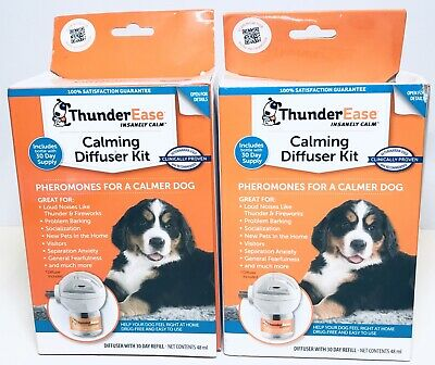 ThunderEase Calming Diffuser Kit Plug Dog Pheromones, Lot of  2,  4173