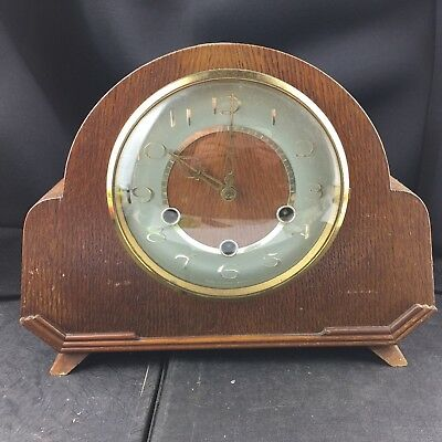 Vintage Smiths Mantel Clock 3 Key Holes Chiming