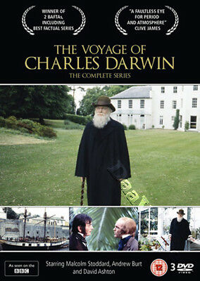 The Voyage of Charles Darwin - Complete Series NEW PAL Cult 3-DVD Set Stoddard