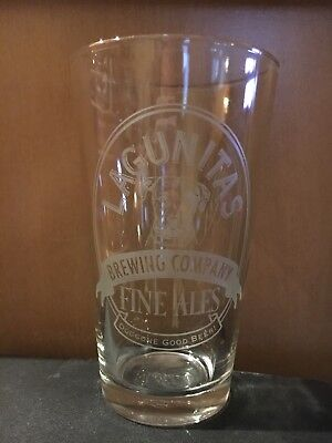 Lagunitas Brewing Company Fine Ales 16 Oz Beer Glass w Dog-Doggone Good Beer
