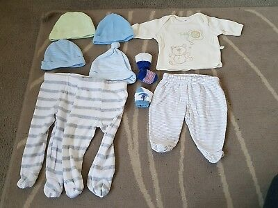 BABY BOYS CLOTHING BUNDLE - Size 00000 small premmie baby