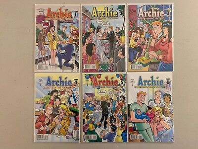 Archie #600-605 Complete Arc 6 Issue High Grade Run Lot Betty Veronica