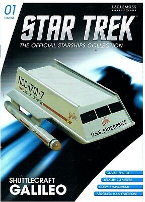 STAR TREK Shuttle GALILEO NEU Raumschiffsammlung Eaglemoss TOS Enterprise 1701