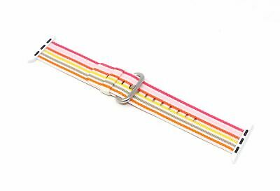 Apple Woven Nylon Band for Apple Watch 38mm Pink Stripe Genuine