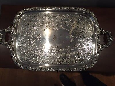 Beautiful & Elegant Silver Plated Footed Tray Sheffield Reproduction