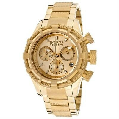 Invicta Reserve Bolt Chronograph Champagne Dial Gold-plated Men's Watch 12461