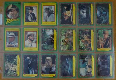 Raiders of the Lost Ark complete set Scanlens Cards