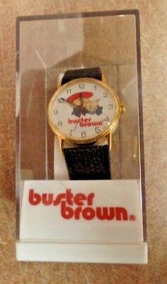 Buster Brown Character Watch/ Shoe Advertisement-1960s Swiss
