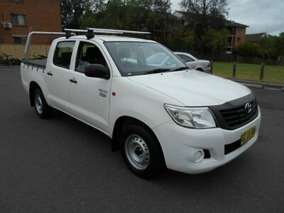 2014 Toyota Hilux TGN16R MY12 Workmate White Automatic 4sp A Dual Cab Pick-up