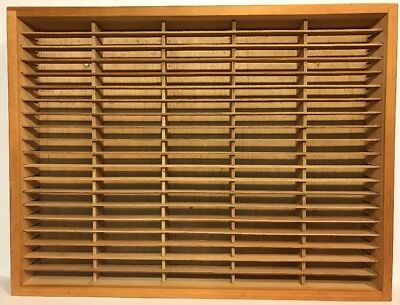 Vintage Napa Valley 100 Slot Cassette Holder Wood Storage Wall Hanging