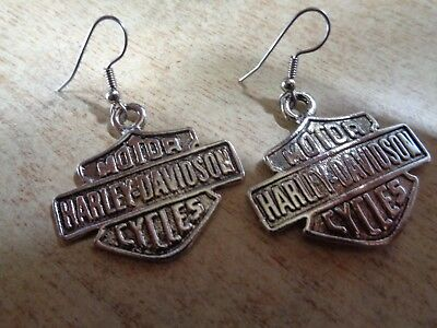 Vintage Harley Davidson Motorcycle Earrings Factory HD Ear Ring Pin Patch Shirt