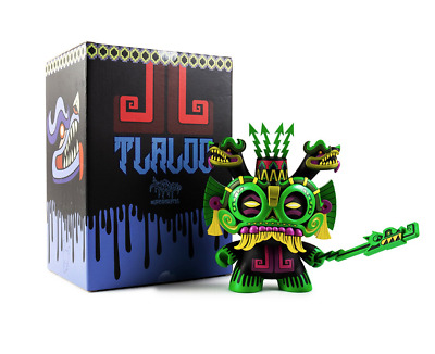 """Dunny 8"""" Jungle Green TLALOC God of Rain 1 of 80! NEW! NRFB! By Jesse Hernandez"""