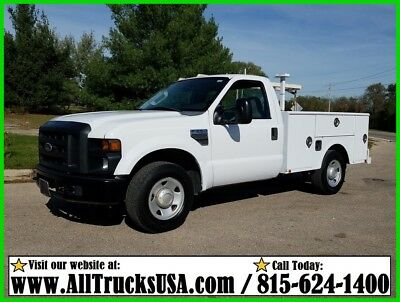 2009 Ford F250 REGULAR CAB 5.4 V8 GAS 8' SERVICE BED UTILITY TRUCK