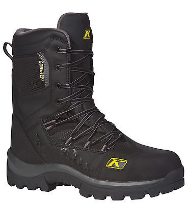 Mens Klim Adrenaline GTX Black Snowmobile ATV Winter Boots Gore-Tex Thinsulate