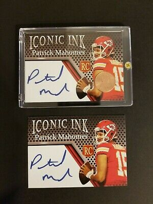 Lot of 2 Rookie Patrick Mahomes Lincoln Penny & Autograph Custom Cards