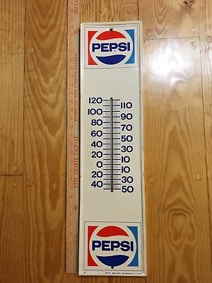 Pepsi Cola Thermometer White