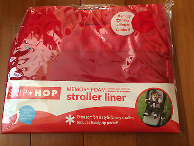NEW in Bag, Skip Hop, Memory Foam Stroller Liner - Red