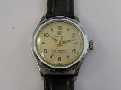 Vintage Conquest Watch Fancy Dial by Endura 1940's