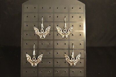 BATS Lot of 2 Pairs  EARRINGS  Brand New! Jewelry  USA SELLER!!  Vampire  spooky
