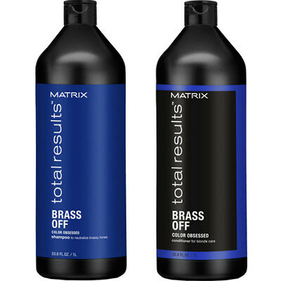 Matrix Total Results Brass Off Shampoo 1 Litre & Conditioner 1 Litre With Pumps