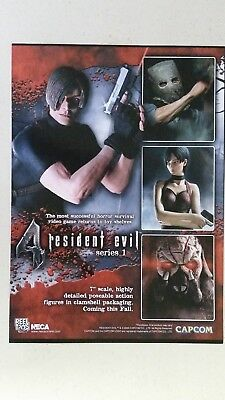 RESIDENT EVIL 4 Series 1 Figures Full Page AD magazine clipping NECA 2005