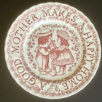 VTG A Good Mother Makes A Happy Home 9'' Plate Norma Sherman England Made