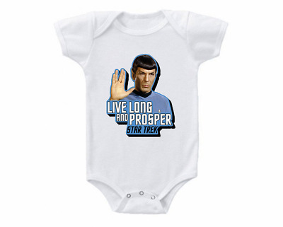 2a4e6eb69 Star Trek Baby Shower Gift Onesie Bodysuit Shirt Spock Live Long & Prosper