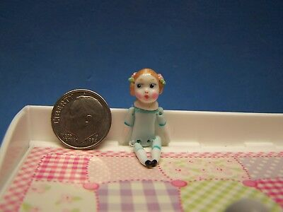 1:12 Scale Dollhouse, Porcelain Look, Lady Doll, About 1 1/2 Inch Tall