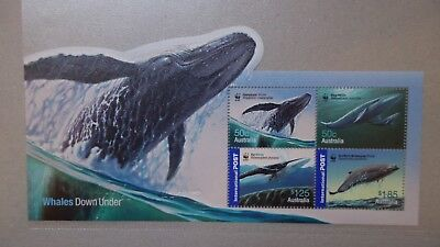 Briefmarkenblock    AUSTRALIA 2006 WWF WHALES DOWN UNDER