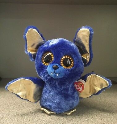 """2018 Exclusive Ty Beanie Boos Big Eyes OZZY the 9/""""  Large Bat NEW MWMT IN HAND"""