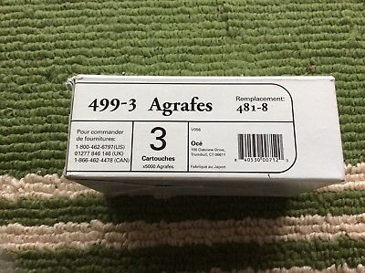 Oce Imagistics Copy Machine Staples 499-3 481-8  - only 2 Cartridges left in box