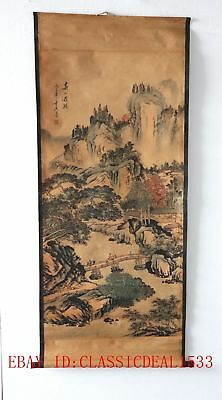 Old Collection Scroll Chinese Painting /Character Landscape Painting ZH1013