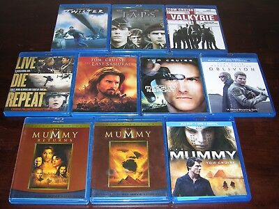 Lot of 10 Popular Blu Ray Movies, Tom Cruise, The Mummy Collection And Others