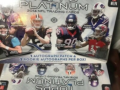 2014 Topps Platinum Football Hobby Box (4 Box Lot) Carr Mack