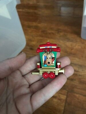 "2011 Hallmark Miniature Ornament ""Reindeer Rider"" Santa's Holiday Train MIB"