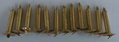 Antique Candles Christmas Tree Ornament Candles Clip On Lot Of 12