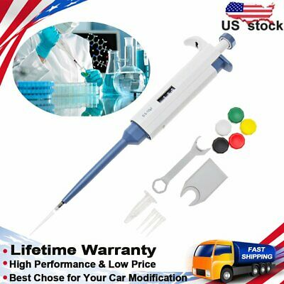 Single Channel 0.5-10μl Micro Pipette Pipettor Variable Liquid Handling Transfer