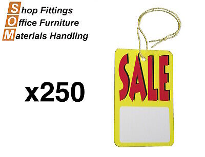 POINT OF SALE RED & YELLOW PAPER SALE TAG [Model: Large Prestrung 250pcs]