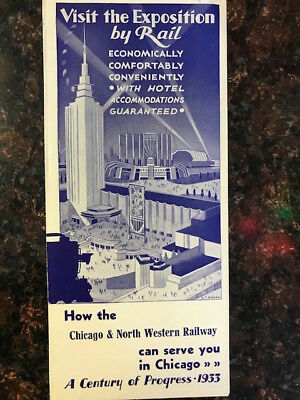 Brochure Chicago & North Western Railway Tour Packages Chicago World's Fair 1933