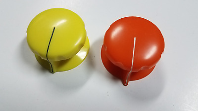 "Pair of Large Daven RCA 2-1/8"" Vintage Audio Knobs Gates Altec Collins WE"