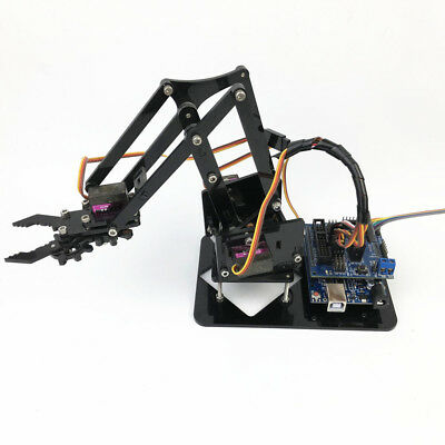 DIY 4-DOF Mechanical Robot Arm Kits w/4 Servos for Arduino Mechanism Parts